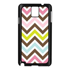 Chevrons Stripes Colors Background Samsung Galaxy Note 3 N9005 Case (Black)