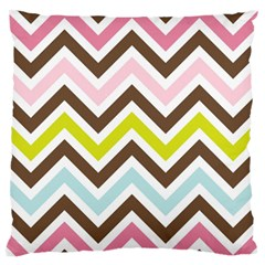 Chevrons Stripes Colors Background Standard Flano Cushion Case (One Side)