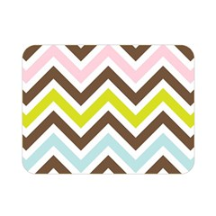 Chevrons Stripes Colors Background Double Sided Flano Blanket (Mini)