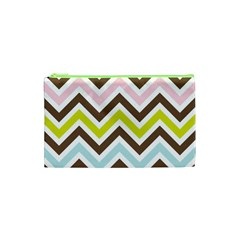 Chevrons Stripes Colors Background Cosmetic Bag (XS)