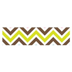 Chevrons Stripes Colors Background Satin Scarf (Oblong)