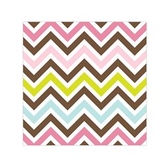 Chevrons Stripes Colors Background Small Satin Scarf (Square)