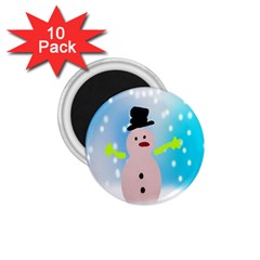 Christmas Snowman 1.75  Magnets (10 pack)