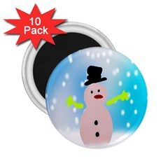 Christmas Snowman 2.25  Magnets (10 pack)