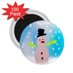 Christmas Snowman 2.25  Magnets (100 pack)