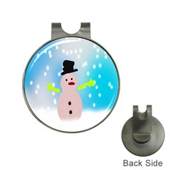 Christmas Snowman Hat Clips with Golf Markers