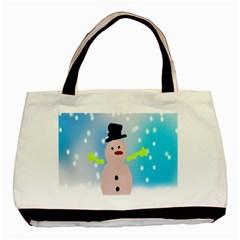 Christmas Snowman Basic Tote Bag