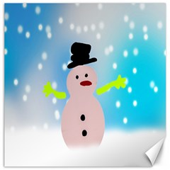 Christmas Snowman Canvas 12  x 12