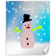 Christmas Snowman Canvas 11  x 14