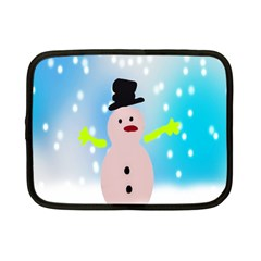 Christmas Snowman Netbook Case (Small)