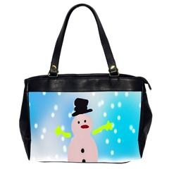 Christmas Snowman Office Handbags (2 Sides)