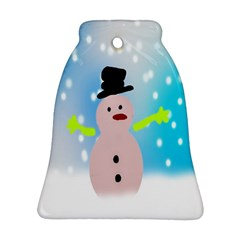 Christmas Snowman Bell Ornament (Two Sides)