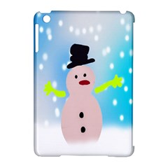 Christmas Snowman Apple iPad Mini Hardshell Case (Compatible with Smart Cover)