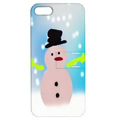 Christmas Snowman Apple iPhone 5 Hardshell Case with Stand