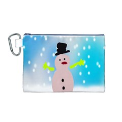 Christmas Snowman Canvas Cosmetic Bag (M)