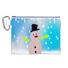 Christmas Snowman Canvas Cosmetic Bag (L)
