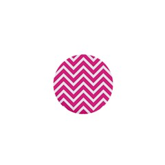 Chevrons Stripes Pink Background 1  Mini Magnets