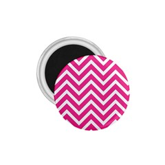Chevrons Stripes Pink Background 1.75  Magnets