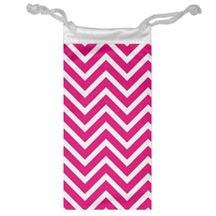 Chevrons Stripes Pink Background Jewelry Bag