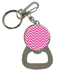 Chevrons Stripes Pink Background Button Necklaces