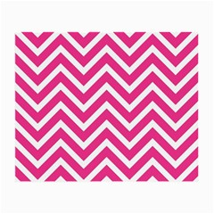Chevrons Stripes Pink Background Small Glasses Cloth (2-Side)