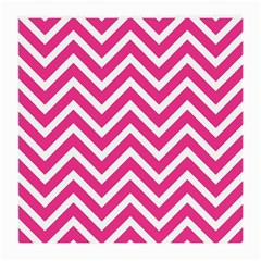 Chevrons Stripes Pink Background Medium Glasses Cloth (2 Side)