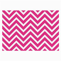 Chevrons Stripes Pink Background Large Glasses Cloth (2-Side)