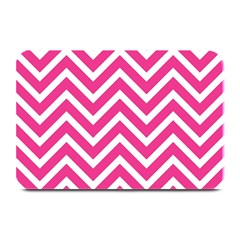 Chevrons Stripes Pink Background Plate Mats