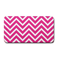 Chevrons Stripes Pink Background Medium Bar Mats