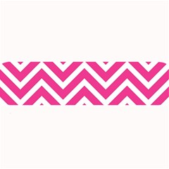 Chevrons Stripes Pink Background Large Bar Mats