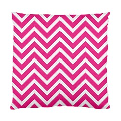 Chevrons Stripes Pink Background Standard Cushion Case (one Side)