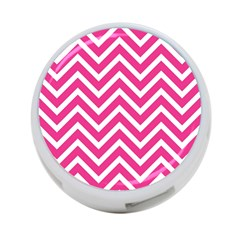 Chevrons Stripes Pink Background 4-Port USB Hub (Two Sides)