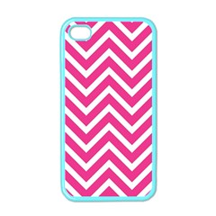 Chevrons Stripes Pink Background Apple iPhone 4 Case (Color)