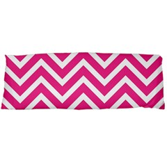 Chevrons Stripes Pink Background Body Pillow Case Dakimakura (Two Sides)