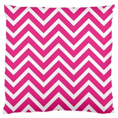 Chevrons Stripes Pink Background Large Cushion Case (One Side)