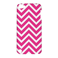 Chevrons Stripes Pink Background Apple iPod Touch 5 Hardshell Case