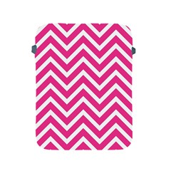 Chevrons Stripes Pink Background Apple Ipad 2/3/4 Protective Soft Cases