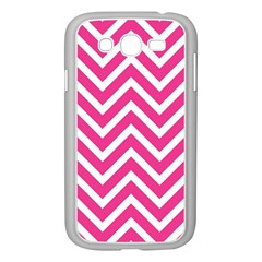 Chevrons Stripes Pink Background Samsung Galaxy Grand DUOS I9082 Case (White)