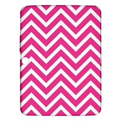 Chevrons Stripes Pink Background Samsung Galaxy Tab 3 (10.1 ) P5200 Hardshell Case