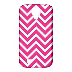 Chevrons Stripes Pink Background Samsung Galaxy S4 Classic Hardshell Case (PC+Silicone)