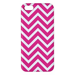 Chevrons Stripes Pink Background Iphone 5s/ Se Premium Hardshell Case
