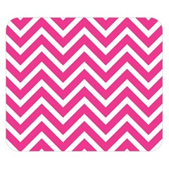 Chevrons Stripes Pink Background Double Sided Flano Blanket (Small)
