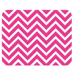 Chevrons Stripes Pink Background Double Sided Flano Blanket (Medium)