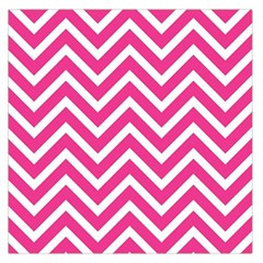 Chevrons Stripes Pink Background Large Satin Scarf (Square)