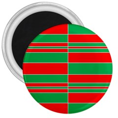 Christmas Colors Red Green 3  Magnets