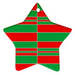 Christmas Colors Red Green Ornament (Star)