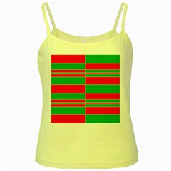 Christmas Colors Red Green Yellow Spaghetti Tank