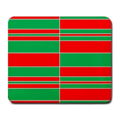 Christmas Colors Red Green Large Mousepads