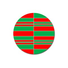 Christmas Colors Red Green Magnet 3  (Round)