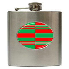 Christmas Colors Red Green Hip Flask (6 Oz)